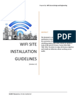 WADE_WiFi Site Installation Guidelines v1.7 Vendors