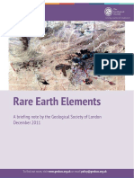 Rare Earth Elements, A Briefing Note [Geol. Society of London 2011] @Geo Pedia