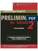 Cambridge English Preliminary for Schools 2 With Answers