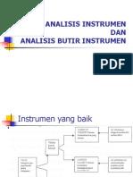 Analisis Instrumen Dan Analisis Butir Instrumen