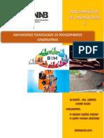 Innovaciones Tecnologicas en Procedimientos Constructivos