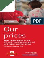 RoyalMail 2016 Prices