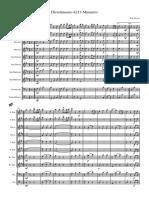 Mozart Divertimento k213 Minuetto - Partitura e Parti