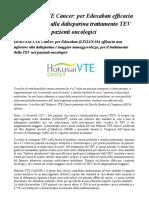 Congresso ASH 2017 Edoxaban Efficace Nel Trattamento TEV Pazienti Oncologici