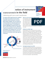 CT Analyzer Mobile Calibration of Instrument Transformers in the Field OMICRON Magazine 2011 ENU