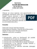 Curso Pedagogía Montessori. CEP de Sevilla