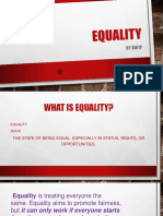 Equality Presentation