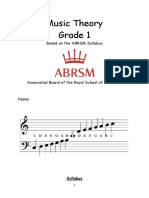 Grade 1 Booklet