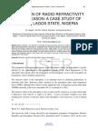 Variation of Radio Refractivity With Season a Case Study of Ikeja Lagos State Nigeria