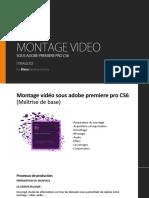 Montage Video Sous Premiere Pro (Cours)