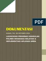 Launching Aplikasi AREA