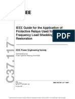IEEE Guide for the Application of Protective Relays Used for Abnormal Frequency Load Shedding and Restoration
