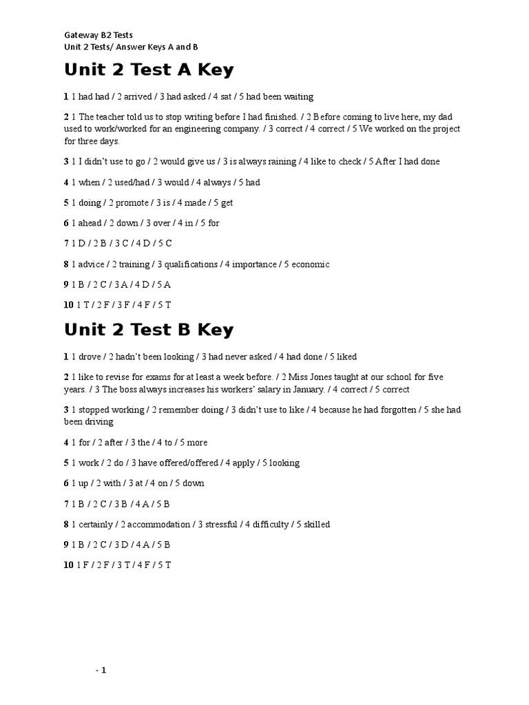 gateway b2 workbook ответы