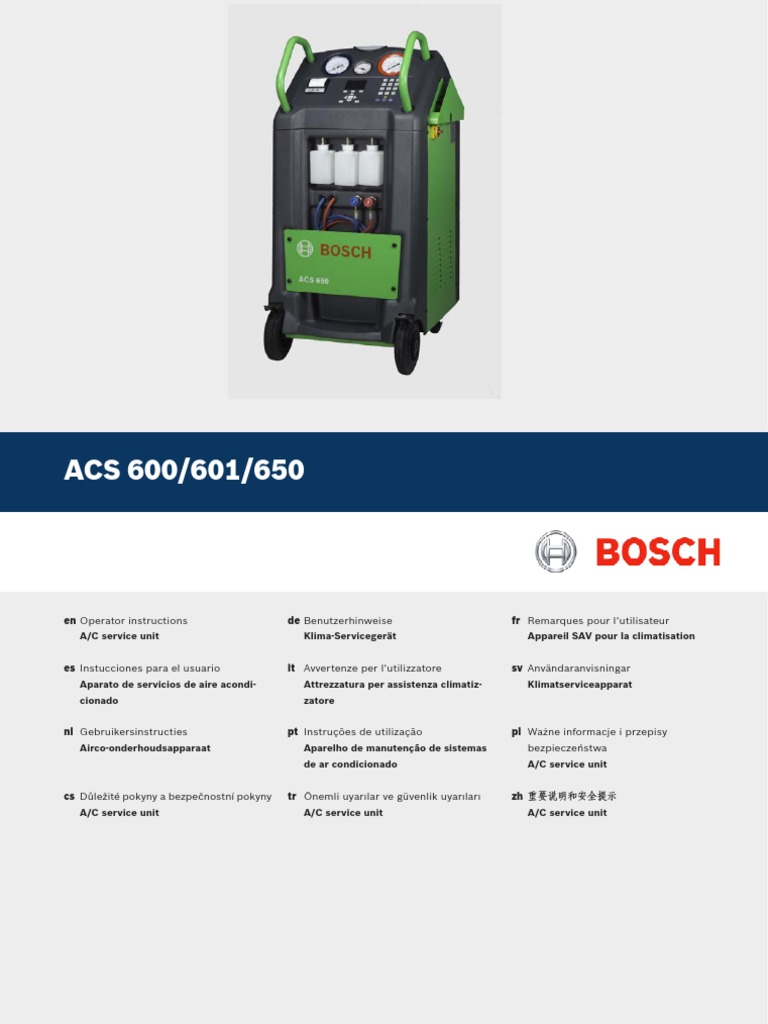 ACS 600 601 650 Operating Instructions | Technology | Technology (General)