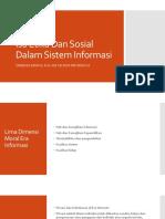 Isu Etika Dan Sosial Dalam Sistem Informasi