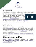 Biografía Manuela ESPEJO