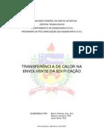 Transferência de Caloria na Involvente da Edificação