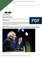 Zygmunt Bauman y La Alerta Contra La Religión de La Comida Rápida - Noticias - Adventistas