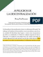 Los Peligro de La Descentralización - Rémy Prud_homme