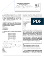 Lista 7.2 - Equilíbrio Químico