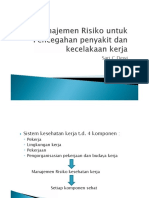 Manajemen Risiko Dan Pencegahan Penyakit Dan Kecelakaan Kerja