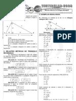 Matemática - Pré-Vestibular Impacto - Trigonometria - Relações Métricas No Triângulo Retângulo I