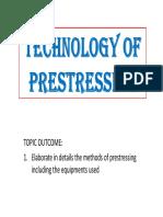 Week 3 - Technology of Prestressing