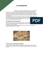 La Contaminacion 111111111