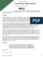 Glosario de Informática Inglés-Español