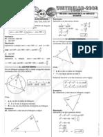 Matemática - Pré-Vestibular Impacto - Trigonometria - Relações Trigonométricas no Triângulo Qualquer