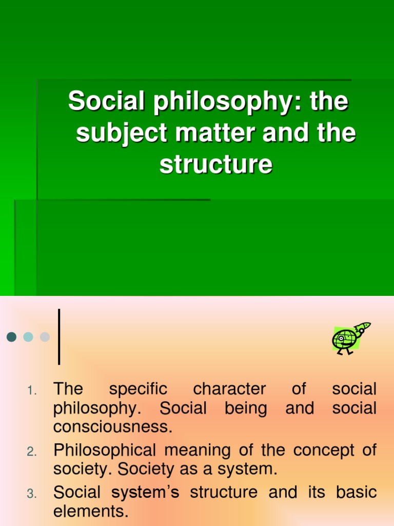 Structure and subject of philosophy