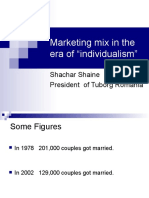 Marketing Mix in the Era Ofindividualism