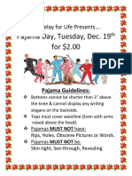 r4l pajama day flyer