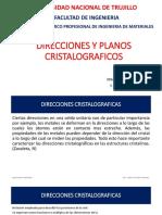 Direcciones y planos cristalograficos