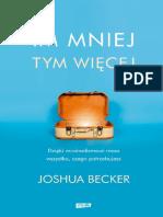 Im Mniej Tym Wiecej - Joshua Becker