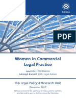 IBA LPRU Women in Commerical Legal Practice Report 2017