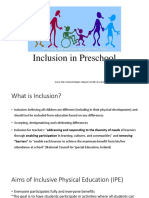 Inclusive Physical Education - Preschool