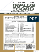 JANUARY 2018 Surplus Record Machinery & Equipment Directory