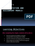 Chapter 4 Transportation and Assignment Models