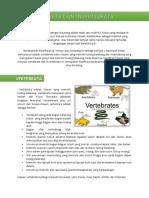 Vertebrata Invertebrata Paper