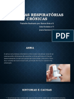 DOENÇAS RESPIRATÓRIAS  CRÓNICAS