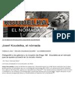 Josef Koudelka, el nómada   Oscar en Fotos