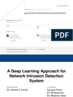 A Deep Learning Approach for Network Intrusion Detection System