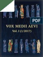 Vox Medii Aevi. Vol. 1-1-2017