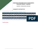Compesa Gabarito Definitivo RETIFICADO