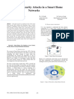 Analysis of Security Attacks in a Smart Home Networks