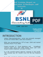 Presentation On Training at BSNL