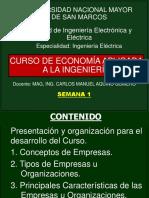 1ra Semana - Curso Economía Aplicada a La Ingeniería