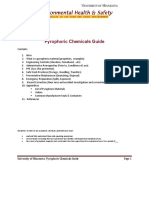 Pyrophoric Chemicals Guide