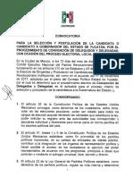 Convocatoria PRI gubernatura Yucatán